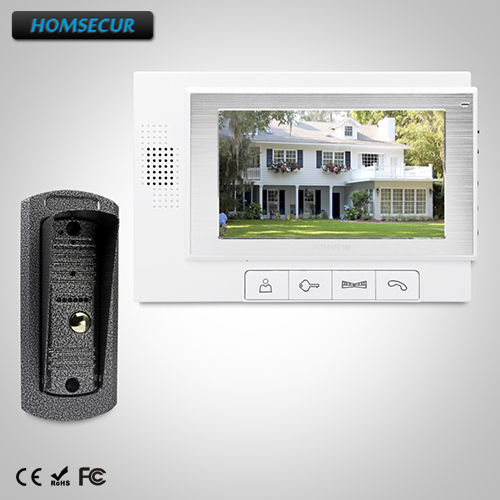 HOMSECUR 7 Wired Video Door Entry Security Intercom With One Button Unlock TC041 + TM702-W homsecur 7 wired video door entry call system with one button unlock for home security