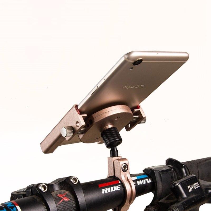 imágenes para De metal de bicicletas bike titular de la manija de la motocicleta montaje del coche para iphone huawei xiaomi mi5 redmi note 4 samsung galaxy s8 más s7 gps