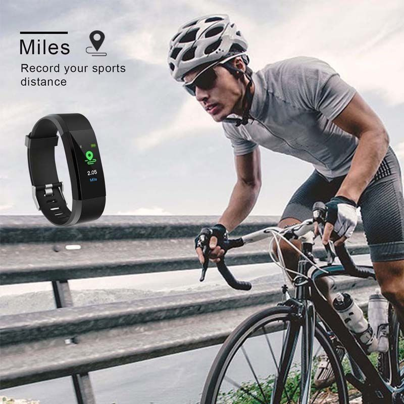 New Outdoor Blood Pressure Heart Rate Monitoring Pedometer Fitness Equipment Wireless Sports Watch Fitness Equipment in Pedometers from Sports Entertainment