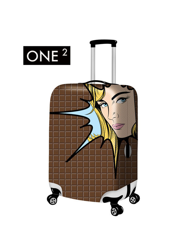 2015 Newest design fashion customized luggage cover colorful suitcase cover for girls luggage protective cover