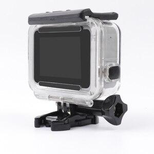 Image 4 - שלד מגן שיכון מקרה צד פתיחת ואחורי עם חור עם עדשת זכוכית עבור GoPro גיבור 7 לבן כסף אבזרים