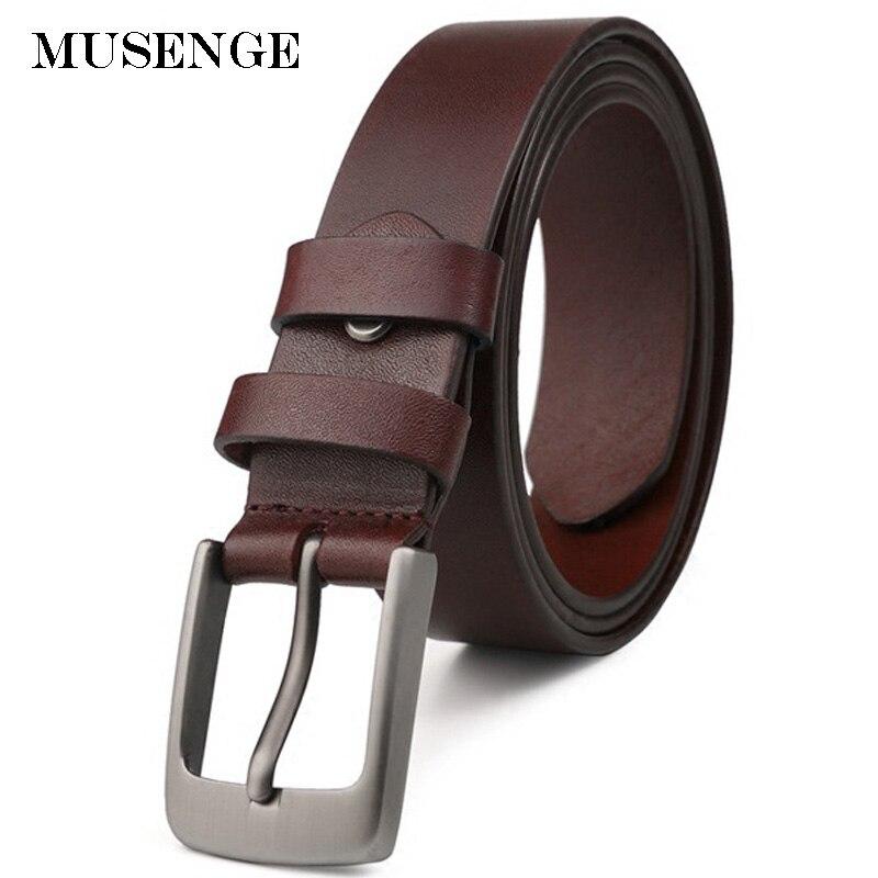 Venta flash Los hombres de cuero natural hombre jeans cinturones para  hombres cinturón primera capa hombre negro ceinture f6d0839bf040