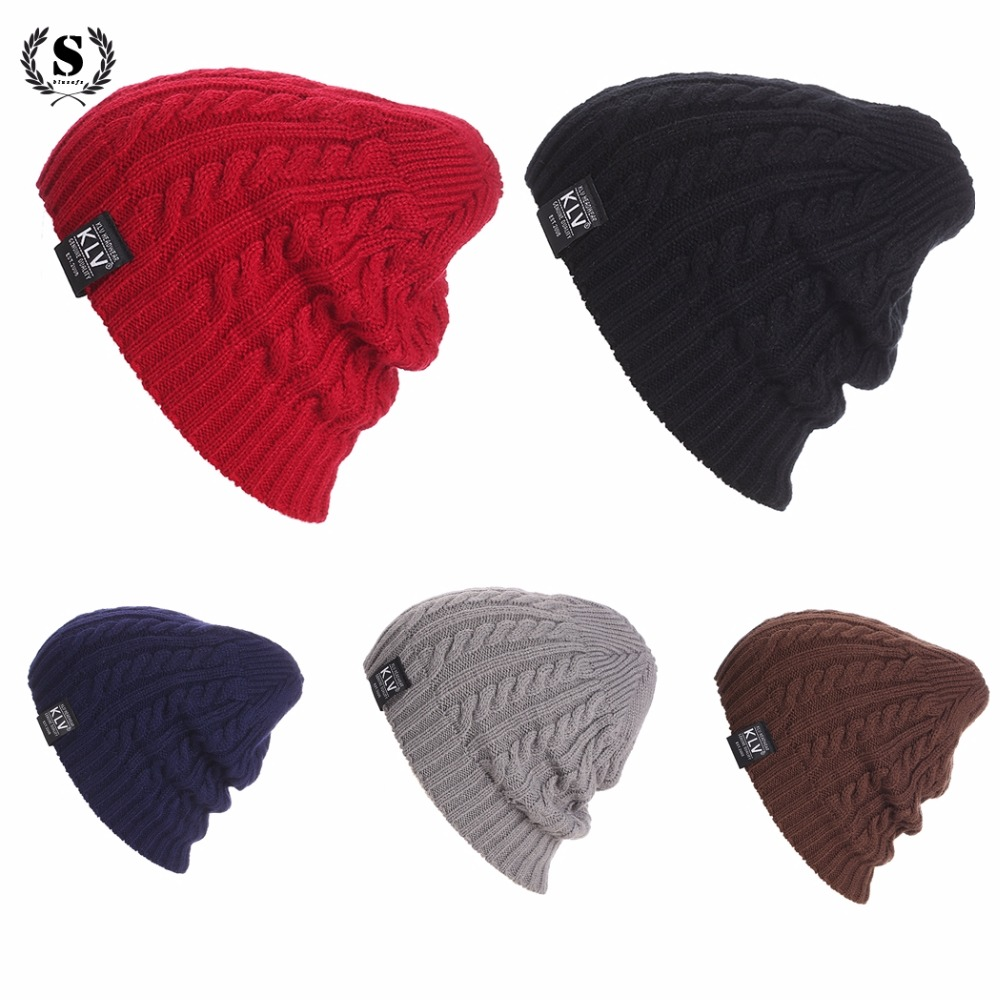 Autumn Hat Women Cap Men 2017 Casual Knitted Unisex Beanie Hat Ribbed Weave Crochet Ski Cap Winter Warm Women's Hats Caps Men