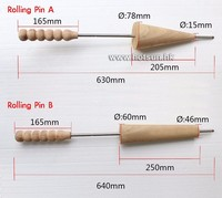 Free Shipping 4pcs Wodden Rolling Pins For Ice Cream Cone Chimney Cakes And Kurtos Kalacs Roll