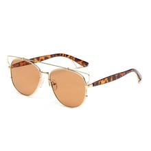 Aviador gafas de Sol Mujeres Hombres Diseñador de la Marca de lujo Retro Vintage 2017 Amarillo Piloto Aviador Gafas de Sol Ray gafas de sol oculos