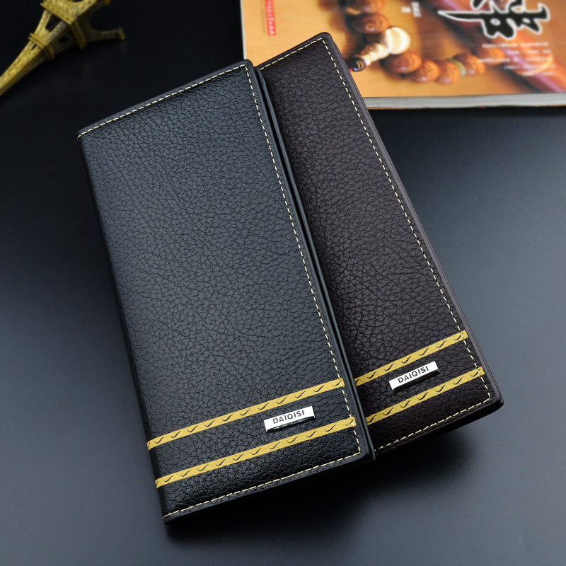 Wallet Men Fashion PU Leather Long Male Clutch Mens Zipper Wallets Coin Purse Card Holder High Quality Men 39 s Long Wallets 2019 in Wallets from Luggage amp Bags