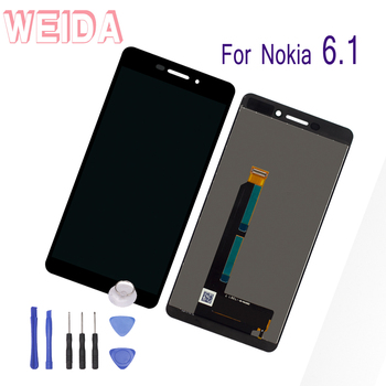 WEIDA For Nokia 6.1 N6 -2018 Screen Replacement Assembly LCD Touch Digitizer 5.5 Inch + Tool TA-1016 TA-1043 TA-1089