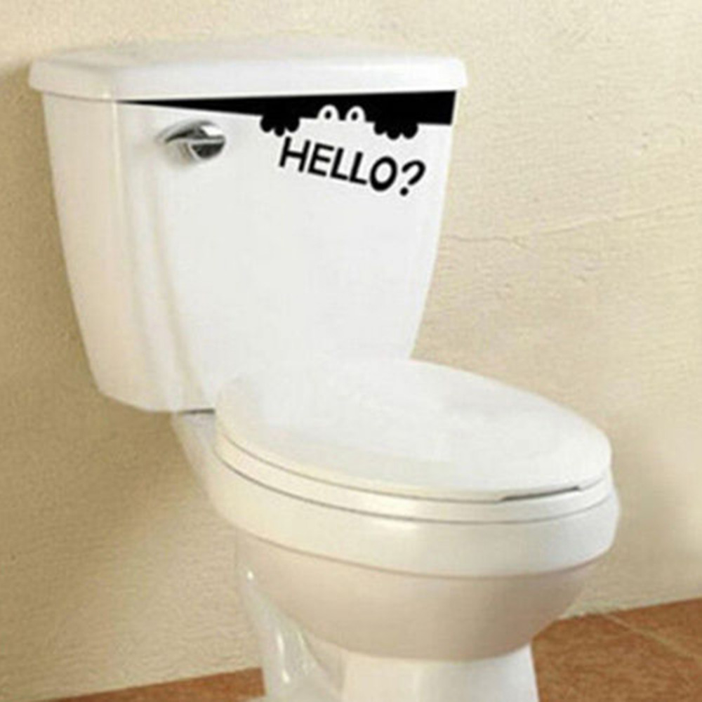 Removable DIY Wall Sticker Funny Peep Hello? Monster Toilet Bathroom  Stickers Wall Art Decal 1 Piece Wallpapers In Wallpapers From Home  Improvement On ...