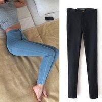 Jeans Womens Pencil Pants 2015 New Slim High Waist Jeans High Quality Elastic Women Jeans Skinny