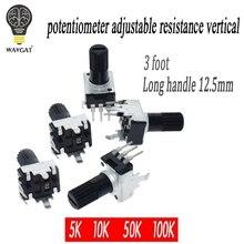 10 шт. RV09 вертикальный 12,5 мм вал 5 к 10 к 50 к 100 к 0932 регулируемый резистор 9 тип 3Pin уплотнительный потенциометр
