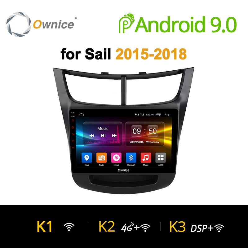 Ownice K1 K2 K3 octa core OEM frame car PC Android 9.0 2GB+32GB GPS radio navigation for Chevrolet Sail 2015 2016 2017 2018 4G