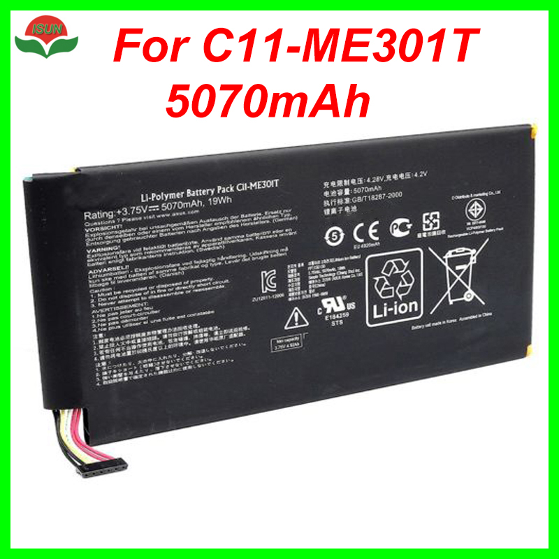 Cellphones & Telecommunications Mobile Phone Batteries Isunoo Original Quality 5070mah 3.75v Tablet Battery For Asus Memo Pad Smart K001 10.1 Tablet C11-me301t /me301t Battery Moderate Price