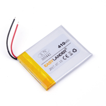 303442 410mAh 3.7v Lithium Polymer Li-Po li ion Rechargeable Battery cells For Mp3 MP4 MP5 GPS PSP mobile bluetooth