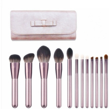 Vander Professional Soft 12pcs Makeup Brushes Set Cosmetic Make Up Tools Foundation Eyeshadow Blush Kits + Leather Bag maquiagem