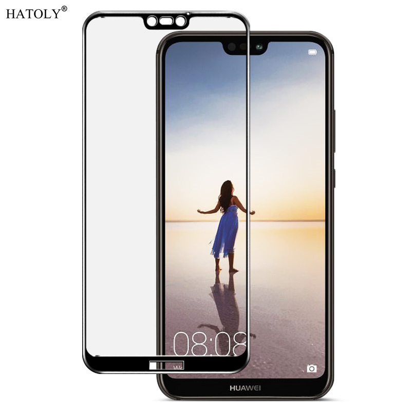 2PCS Tempered Glass For Huawei P20 Lite Screen Protector Huawei Nova3e Full Cover For Huawei P20 Lite 3D Curved Edge Film HATOLY