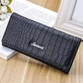 Fashion Crocodile Leather Wallets Long Design Brand Women Clutch Wallets  Purse Lady Party Wallet Female Card Holder