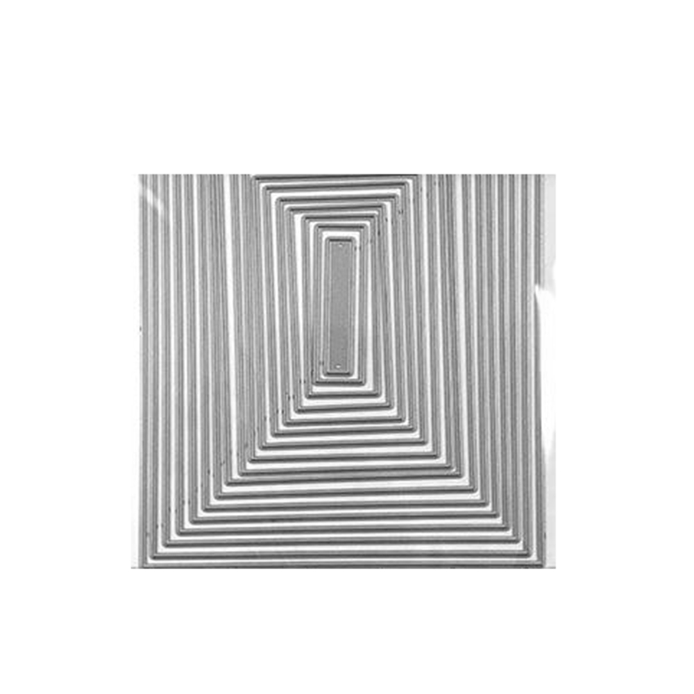Rectangles Set 104*135mm Craft Die Punch Frame Metal Steel Cutting Dies Stamps 3D DIY Scrapbooking Photo Invitation Card Making