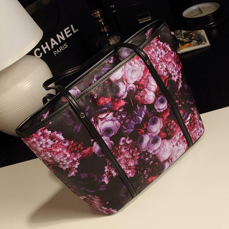 2018 new retro big bag Korean fashion ladies bag shoulder bag oil painting bag factory delivery 4