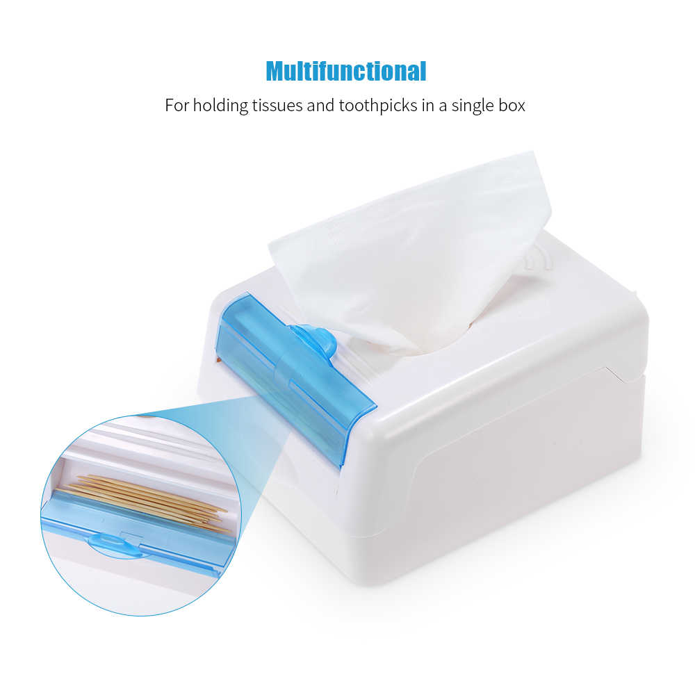 2 in 1 Toothpick Tissue Box Wall mounted Tissue Dispenser ... on Wall Mounted Tissue Box Holder id=70091