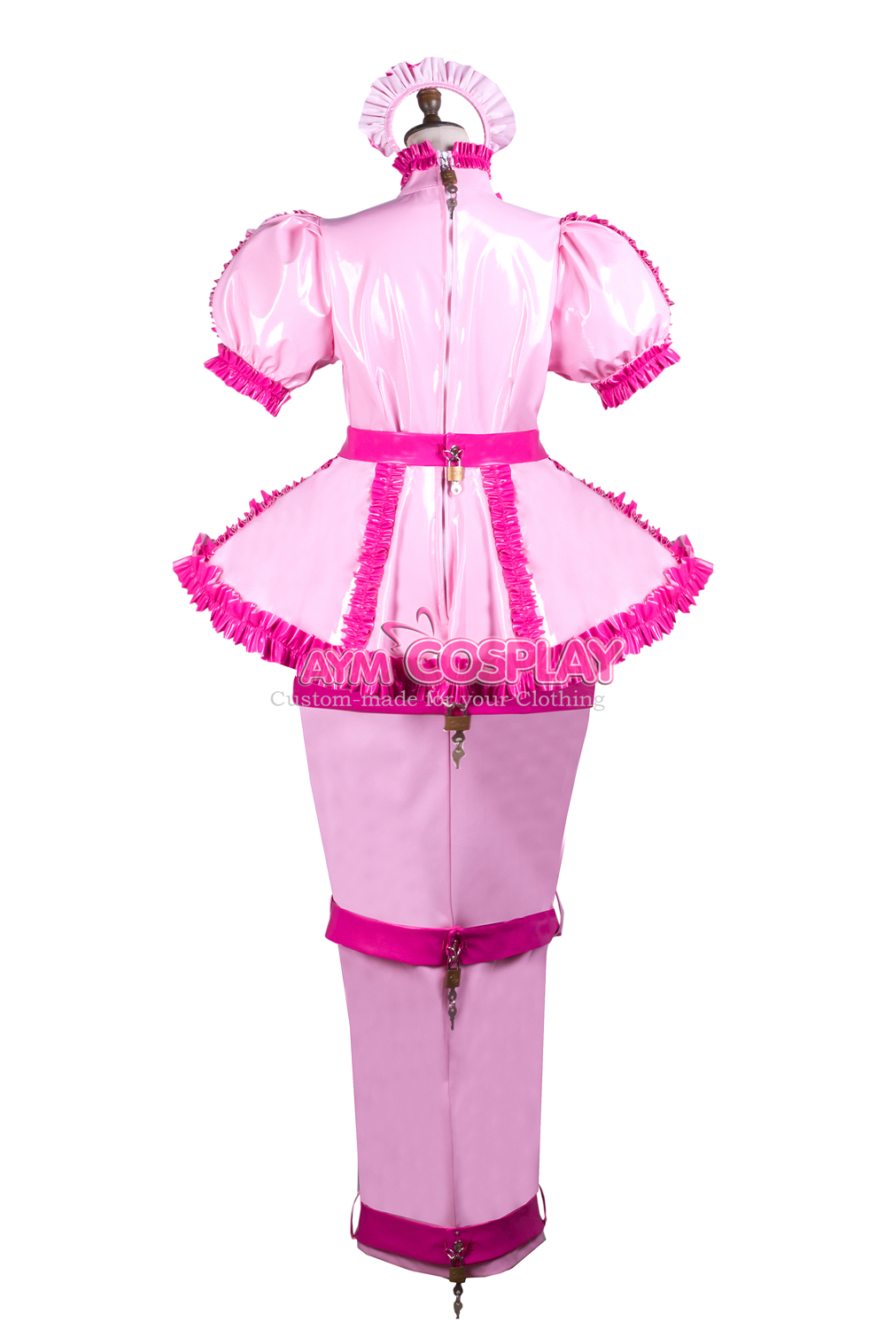 Details about  /heavy PVC  Sissy Maid vinyl Dress Unisex CD//TV Tailor-Made