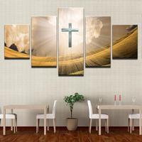 5 panneau HD imprimé toile peinture Christ Croix impression sur toile art Moderne Home Decor Wall art Image Pour Salon F1277