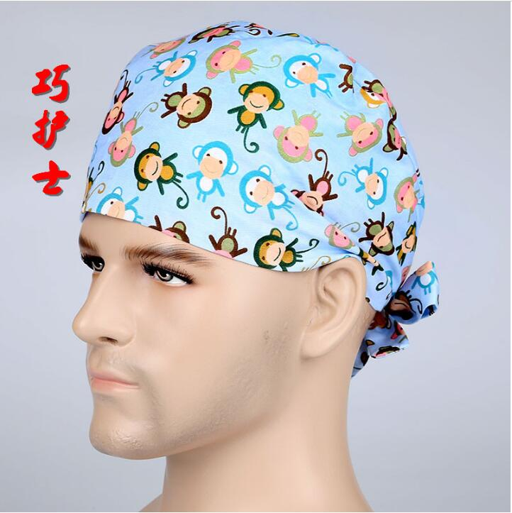 Cotton Surgical caps Medical cap print for Men and women Adjust