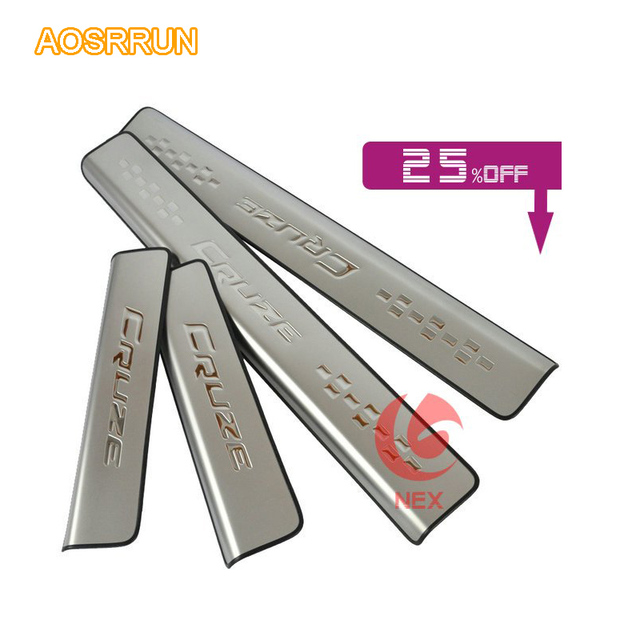 AOSUUUN Door sill scuff plate car accessories For Chevrolet cruze ...