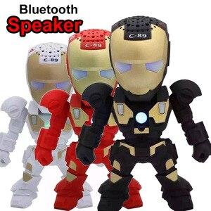 Image 1 - Portable Mini Speaker Iron Man Bluetooth Wireless Speakers with LED Flashing Light Stereo Hifi Sound Box TF USB MP3 Player