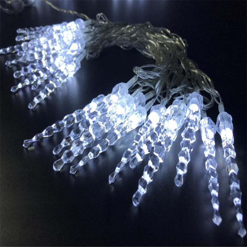5M 28led Hard Plastic Icicle Fairy String Lights For New Year Christmas Xmas Wedding Party Wedding Home Decoration
