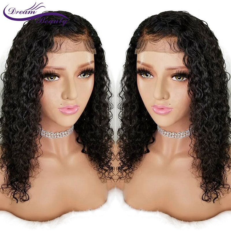 Glueless Curly Lace Front Wig Pre Plucked With Baby Hair Lace Front Human Hair Wigs For Women Brazilian Remy Hair dream beauty