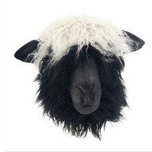 2019 Hot selling Adult Size Animal Mask Costume Latex Head Sheep