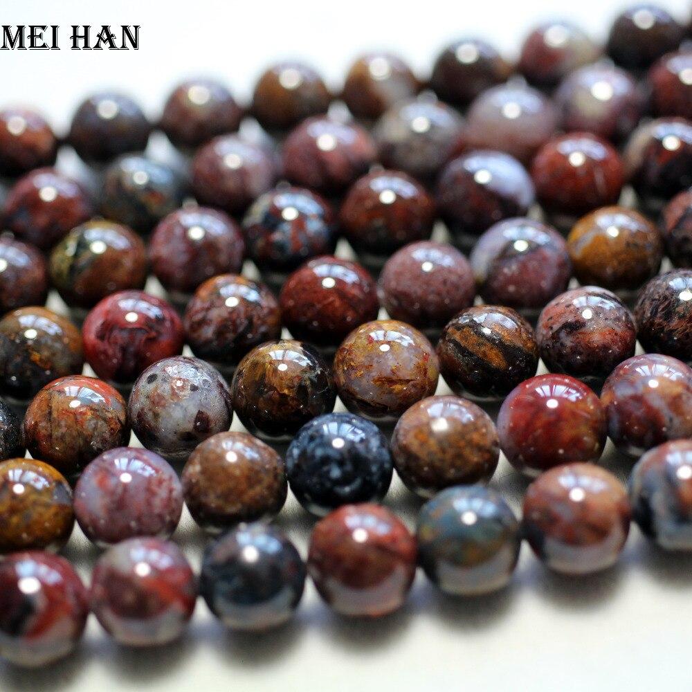 Image 2 - Meihan wholesale natural 10mm 12mm (1strand /set) amazing rare Pietersite smooth round beads stone for jewelry making DIY designbeads stonestones for jewelrystones for jewelry making -