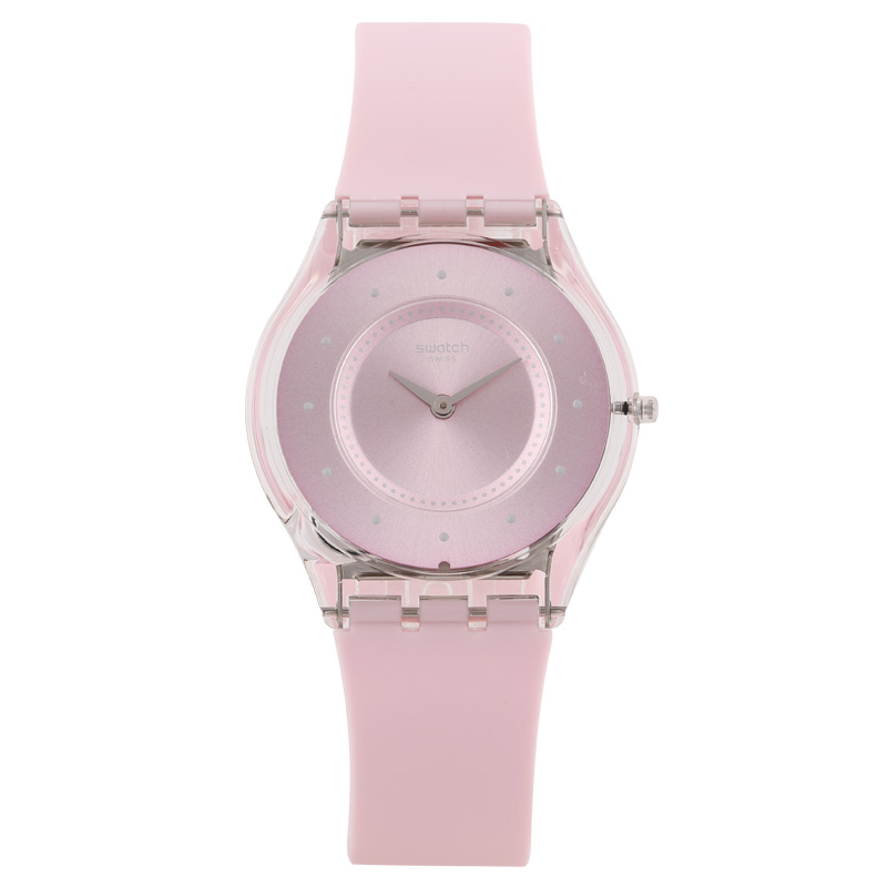 Swatch watch SKIN series romantic pink dot marker quartz watch SFE111 eglo truro 49235