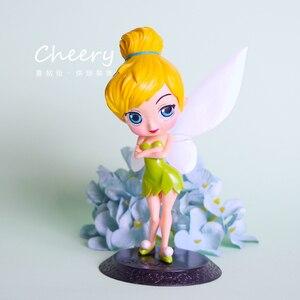 Image 4 - Disney Q posket Bambola Della Principessa Ariel Alice Wonder Woman Harley Quinn Elsa Anna Figure toy dolls Cake Topper decorazione Della Torta partito