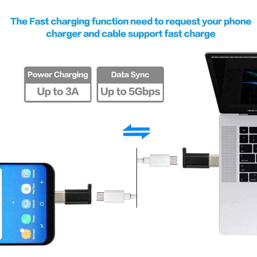 Olhveitra المصغّر USB إلى نوع c محول لهواوي P20 لايت برو سامسونج S8 s9 plus Redmi ملاحظة 7 برو USB C adaptador شاحن سريع