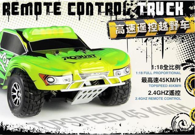 2014 Novos brinquedos de controle remoto Wltoys A969 RC Car 1:18 2.4G 4WD off road rc deriva Carro de Controle Remoto ca