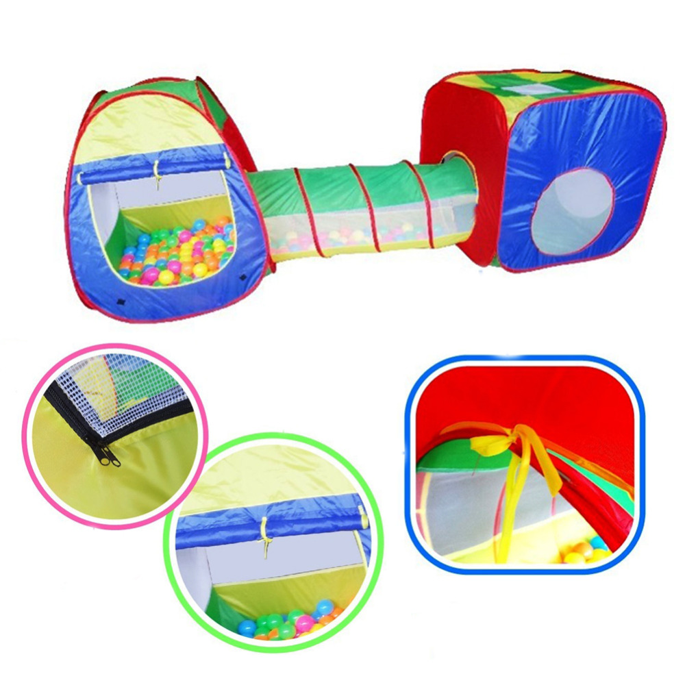 Baby Playing House Toys Storage Tent Cubby Tube Teepee 3pcs Pop up Play Tent Children Tunnel Kids Adventure House Toy-in Toy Tents from Toys u0026 Hobbies on ...  sc 1 st  AliExpress.com & Baby Playing House Toys Storage Tent Cubby Tube Teepee 3pcs Pop up ...