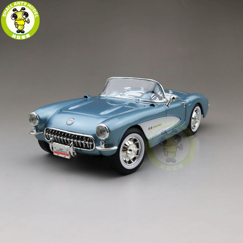 1/18 1957 Chevrolet CORVETTE Road Signature Diecast Model Car Toys Boys Girls Gift