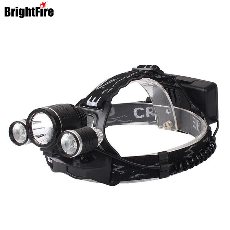 New Arrival High Quality Headlamp Headlight 6000LM BrightFire XML-T6+2 R2 LED Head lamp 4 Mode Bicycle Light for Riding Camping
