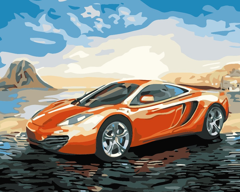 Ween sports car pictures painting by numbers modern diy for Painting my car