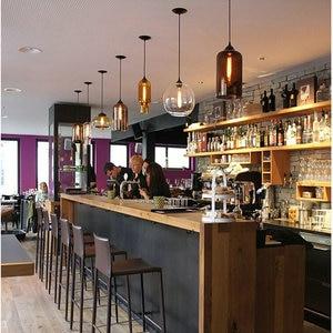 Image 3 - Artpad רב צבע מוכתם ברור זכוכית תליון אור מנורת עבור אוכל חדר בר קפה מלון מסעדת תאורת LED תליית אור