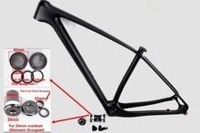 2017 rowerów MTB 29er carbon rama 142×12 osi thru MTB ramki węgla 29 cal 135x9mm rozmiar 15/17/19/21″