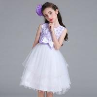 2018 New Summer Girls Dress Elegant Princess Dress Children Clothes Kids Chiffon Pearl Lace Girl Party