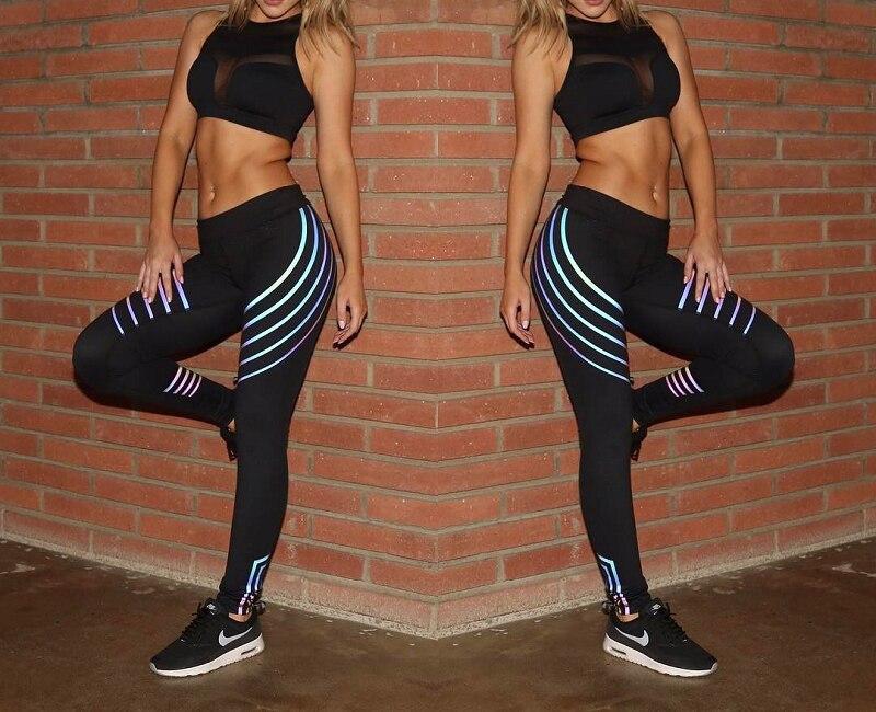 Yoga Leggings Quick Dry Yoga Pants Female Leggins Sport Women Fitness Night Glowing Tights Sport Fitness Gym Leggings Seamless