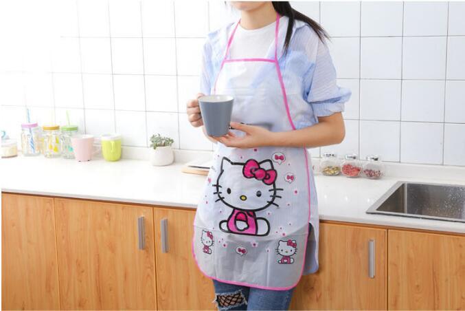 1PC New Cartoon Cute Fruit Waterproof Cooking Resturant Kitchen Women PVC Apron Kids Funny ND 009