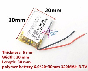 Image 3 - (شحن مجاني) بطارية ليثيوم بوليمر 602030 320mAh 3.7 فولت نقطة قراءة قلم مسجل بالجملة CE FCC بنفايات MSDS شهادة