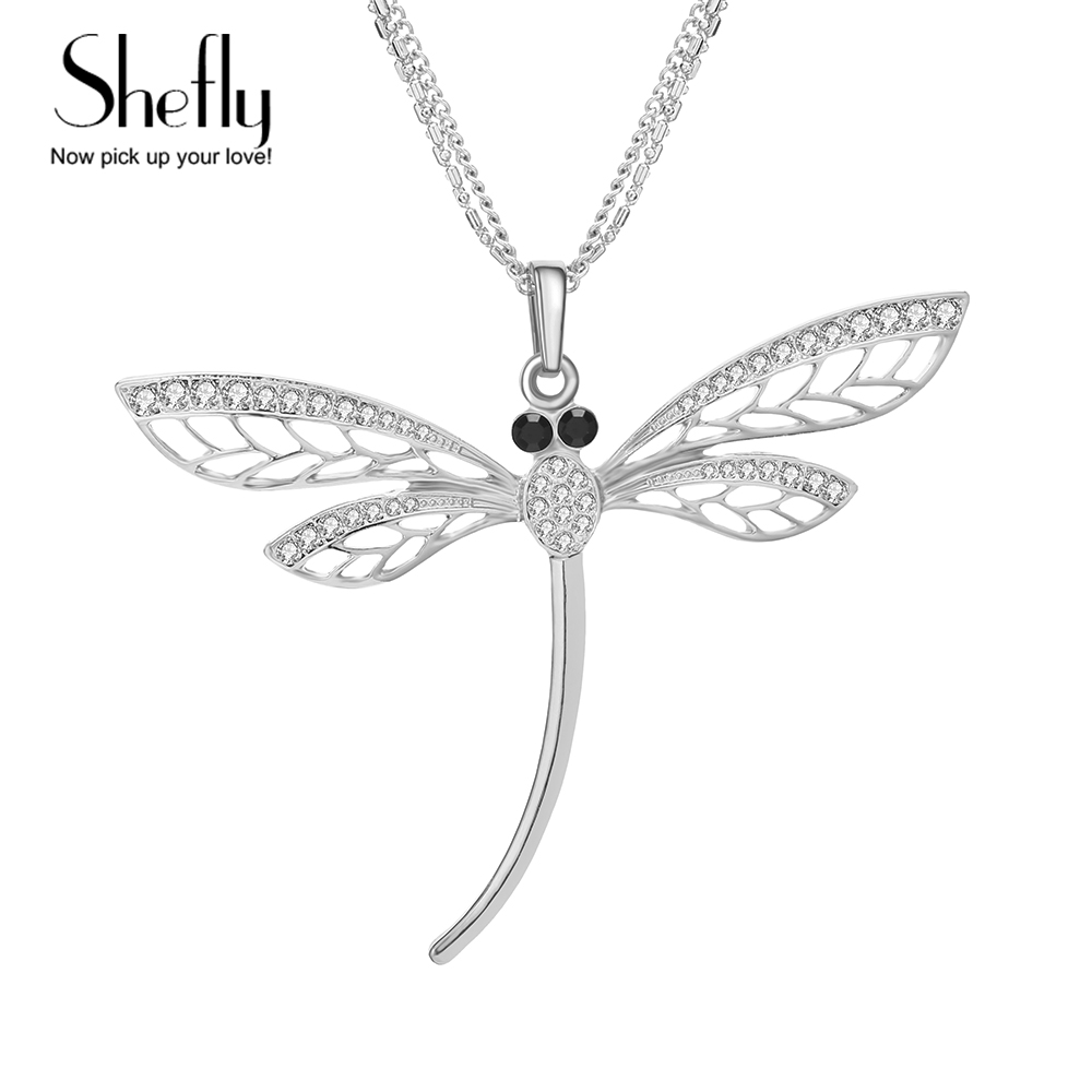 Long Sweeter Chain Dragonfly Pendant Long Necklace Christmas