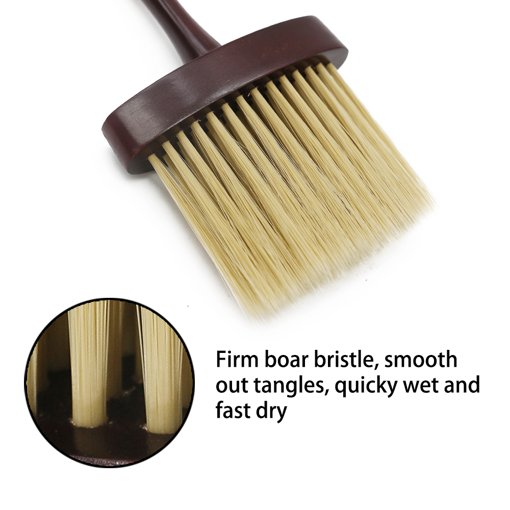 High Quality Soft Wool Bristle Neck Dust Brush For Hairdressing Wooden Barber Hair Weeping Brush Comb For Salon Hair Care & Styling