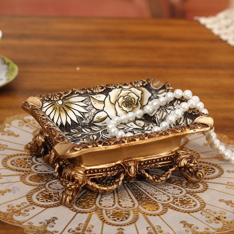 European style rose fashionable creative high quality antique home ashtray ornaments