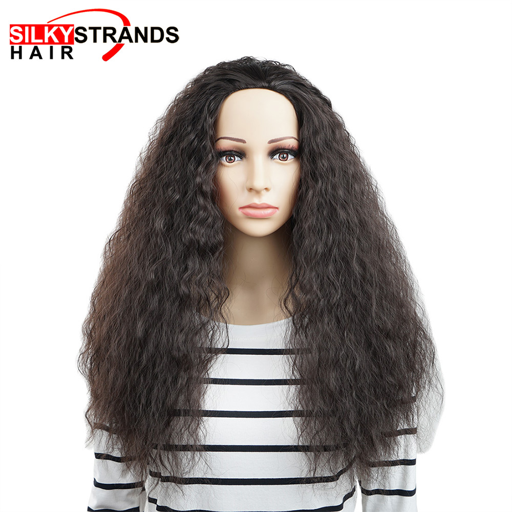 Long Curly Heat Resistant Synthetic Wigs For Black Women African